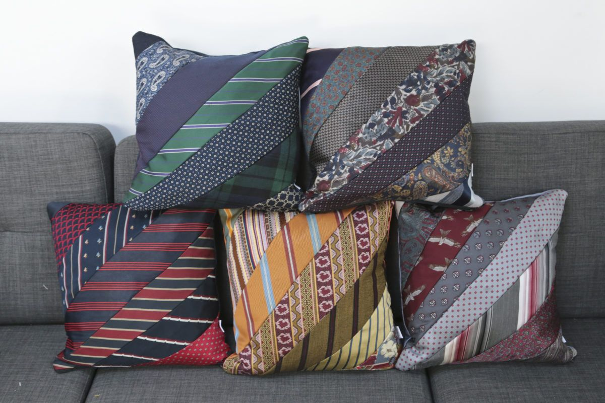 Making Precious Memories How To Make A Cushion Using Ties