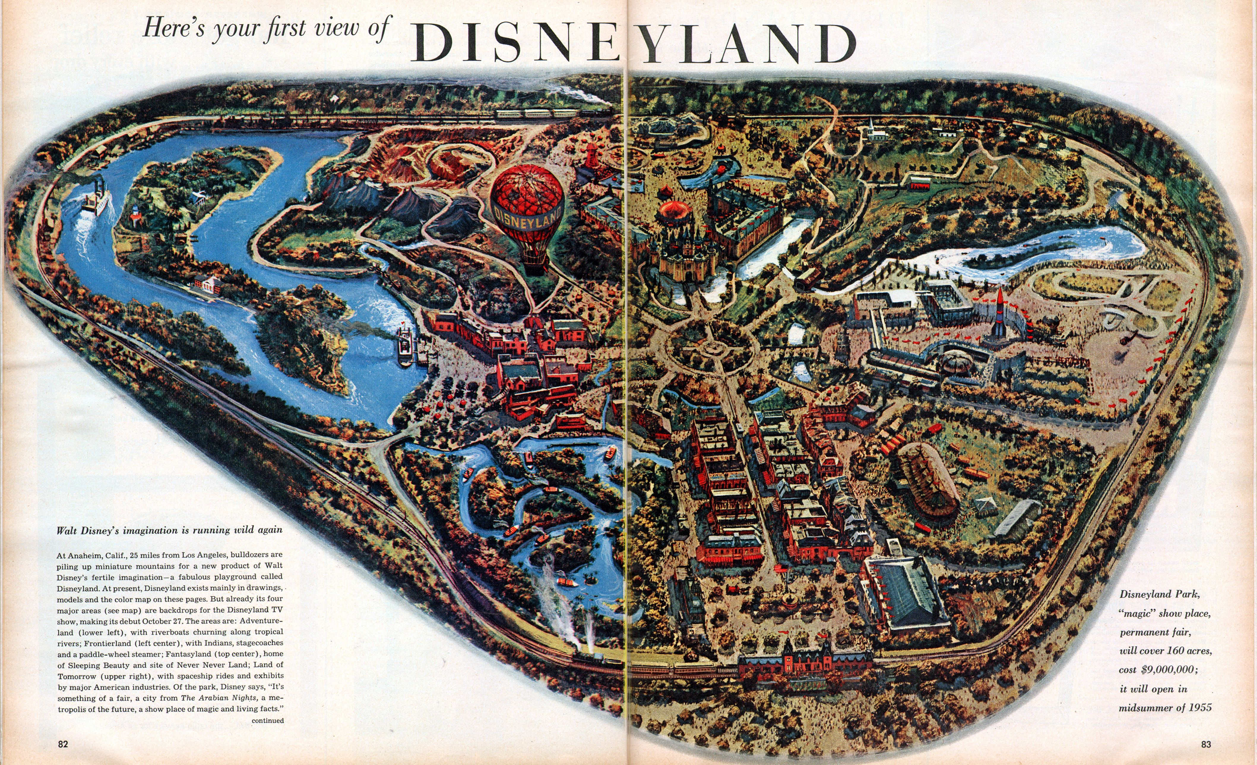 Here Is Your First View Of Disneyland  Disney Pinterest - Disneyland usa location map