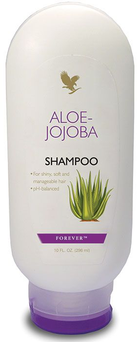 Forever Living - Aloe-Jojoba Shampoo. Create soft, shiny and manageable hair with this pure aloe based formula. Keeps the scalp and hair looking clean and healthy. A mild, long lasting formulation, suitable for all hair types and can help control irritation.