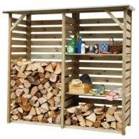 Bricorama 139 3m Cube Abri Bois Bois Stockage De Bois