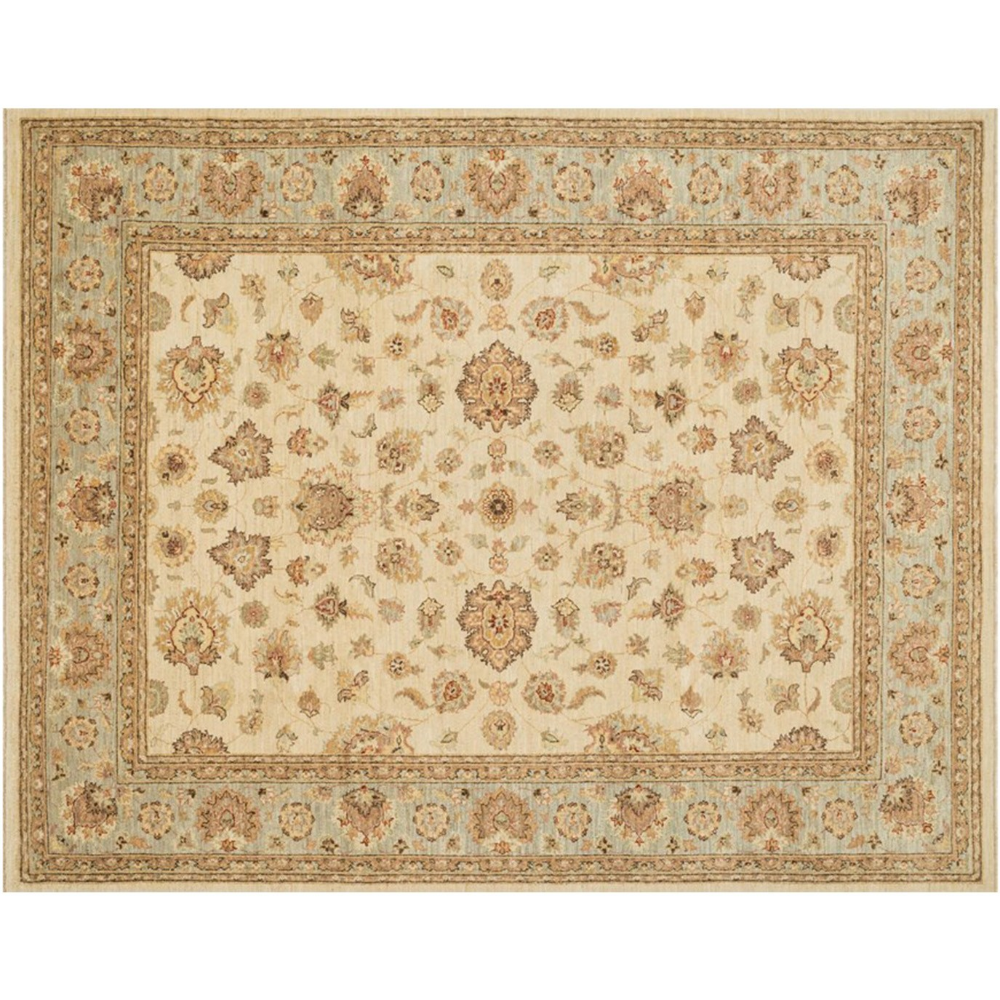 Majestic Rug Ivory Blue With Images Rugs Hand Knotted Rugs Rug Company