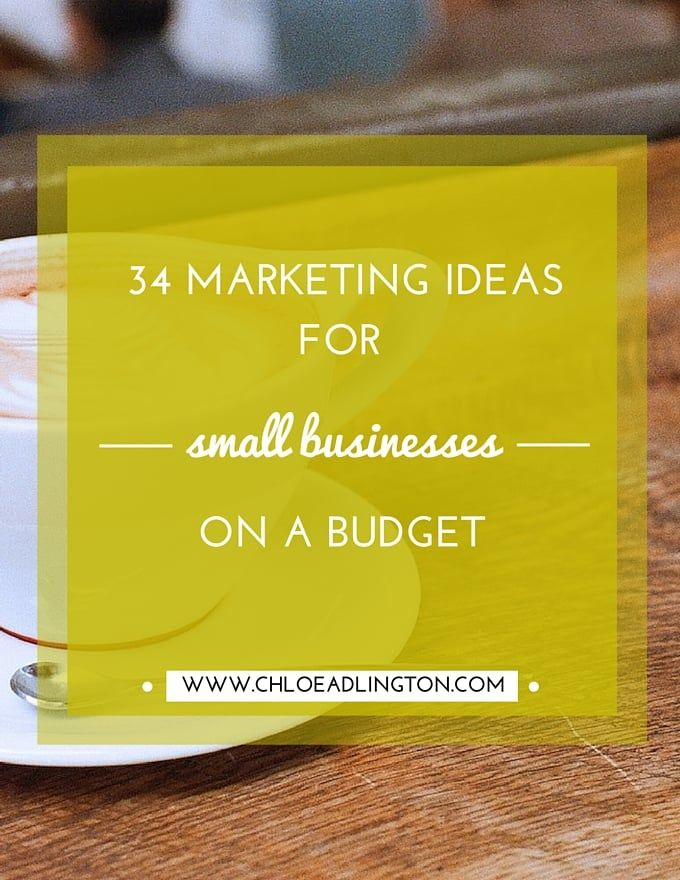 I'm sure many of you are still in the process of piecing together your  plans for this year and with every new product, project or idea there  usually needs to be some marketing activity. So today I'm sharing a list of  34 marketing ideas for small businesses on a budget, to help get your  creative juices going!  Just before we dig into the list though make sure you carefully consider  where your ideal customers are hanging out - 'on' and 'off' line? Select  the ideas from the list or come…