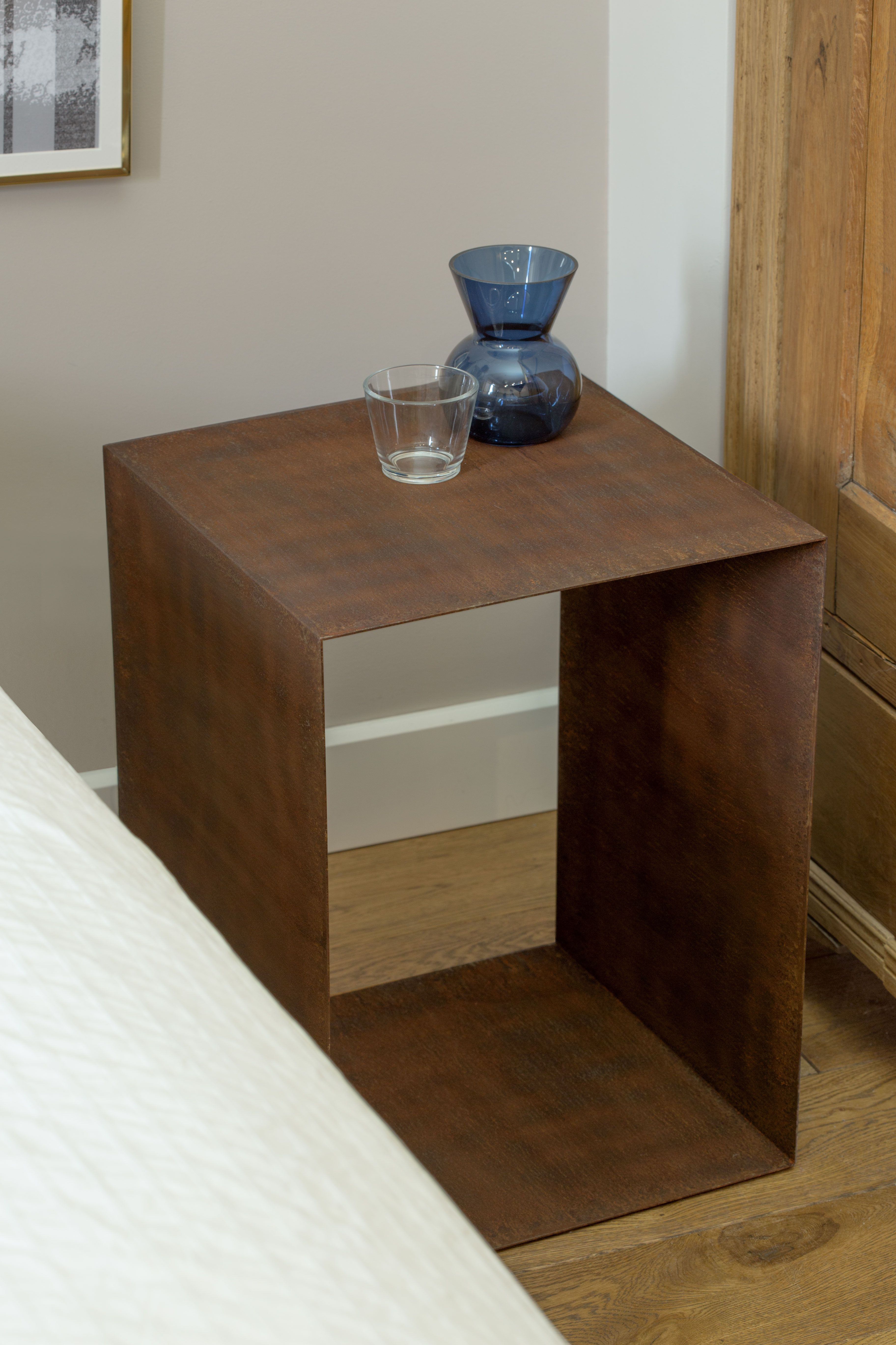 The Rusted Bedside Table From The U201cSteel Your Heartu201d Collection Is A Unique  Piece
