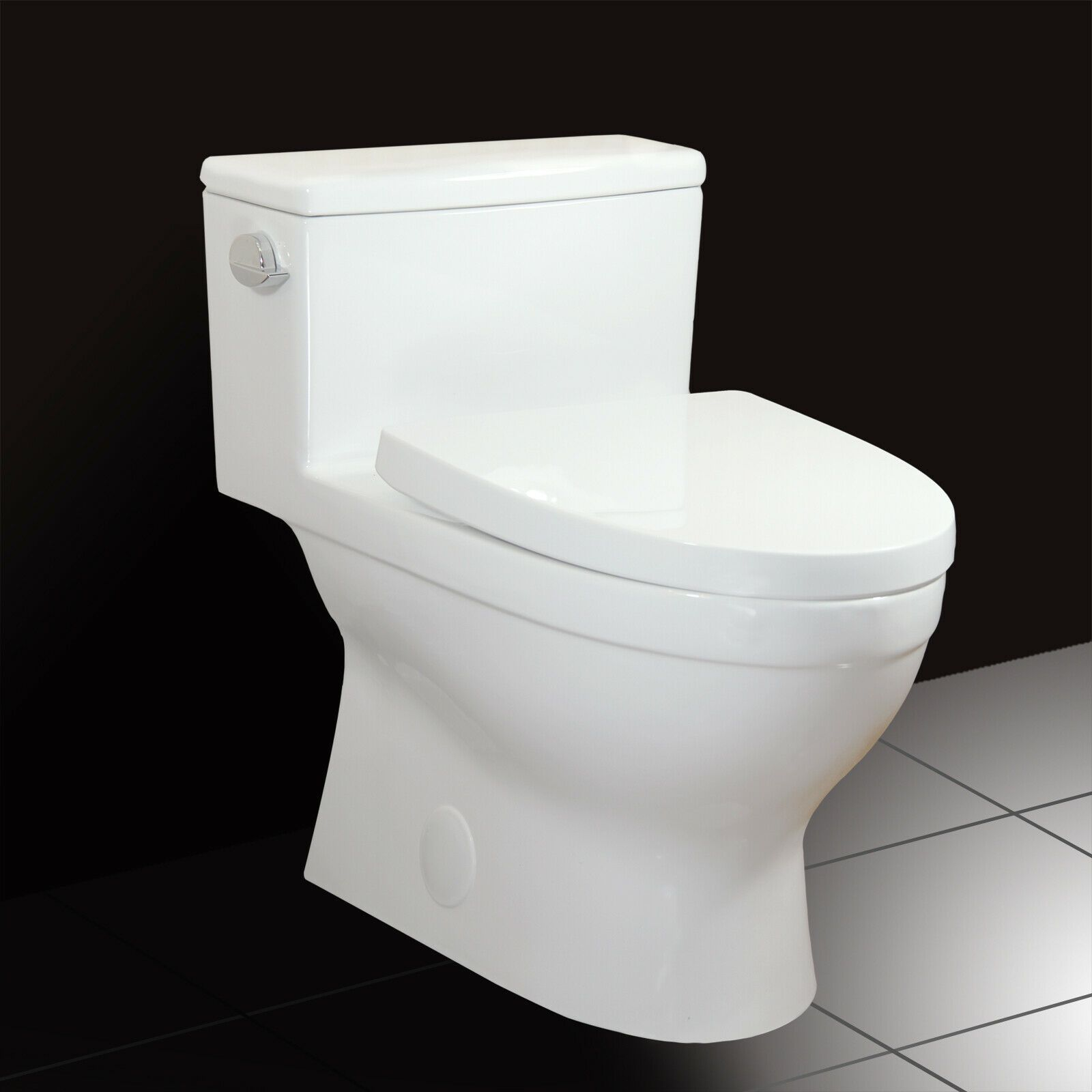 Winzo Elongated One Piece Toilet Powerful Flush 1 28 Gpf Watersense Cupc White Toilets Ideas Of Toilets Toilets Toilet Home Depot Toilets Toto Toilet