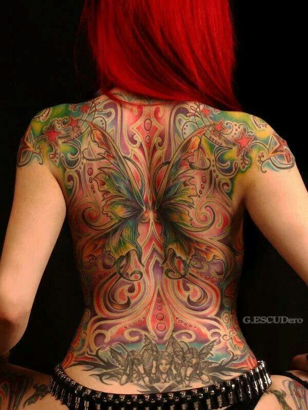 Not Your Stupid Ass Butterfly Back Tat