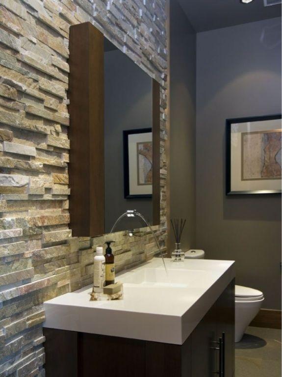 Faucet Modern Powder Rooms Natural Stone Bathroom Contemporary Bathroom Designs