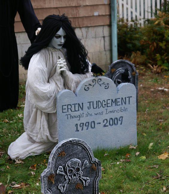 Holiday Decor  More Halloween Graveyard-homemade tombstone (foam