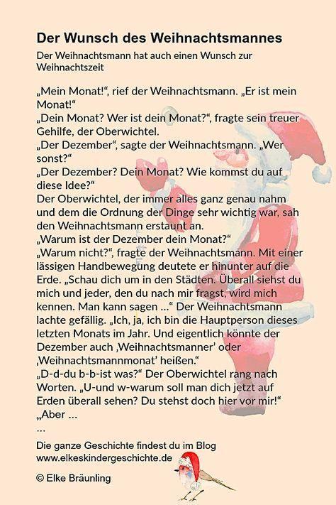 Der Wunsch des Weihnachtsmannes * Elkes Kindergeschichten