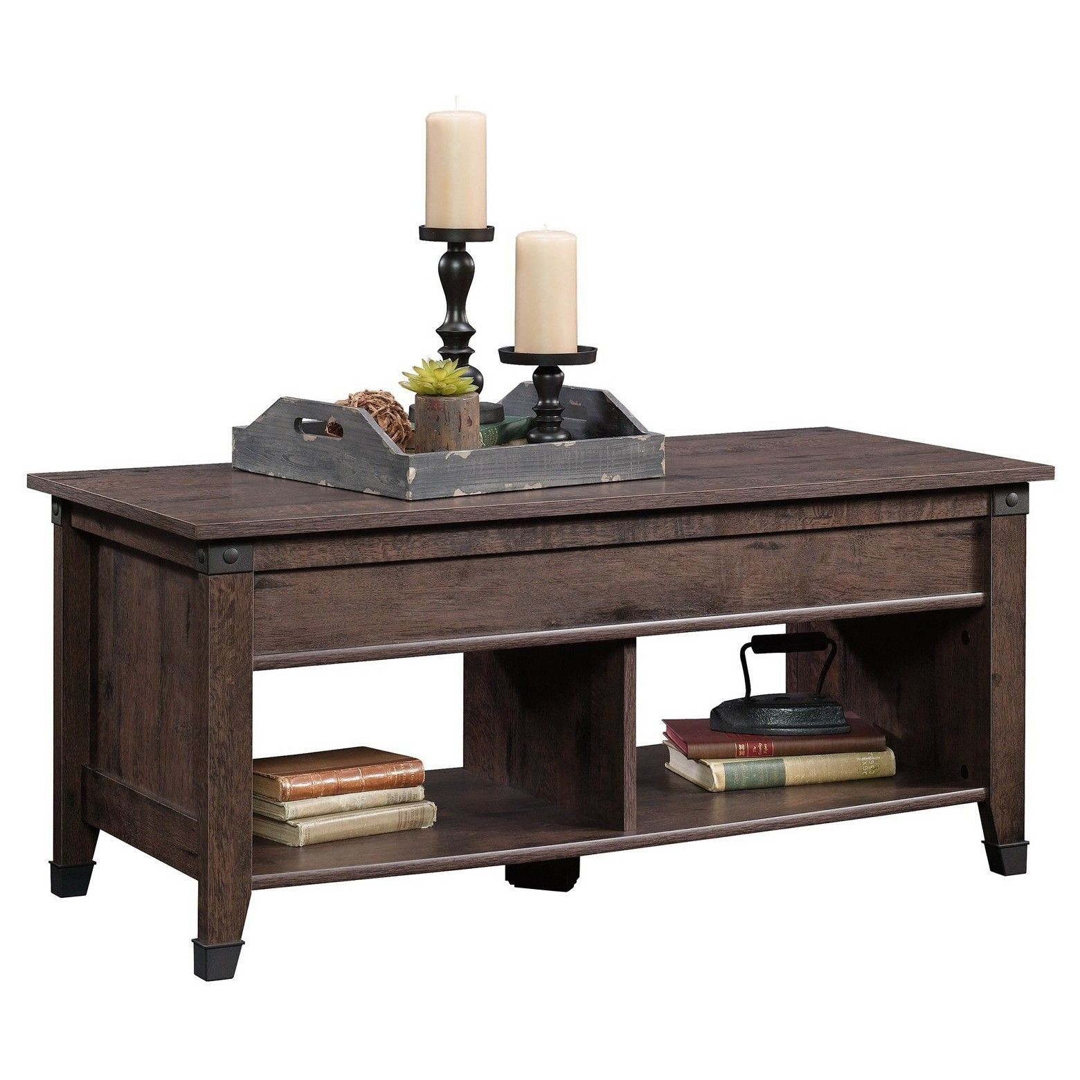 Carson Forge Lift Top Coffee Table Dark Brown Sauder Lift Top Coffee Table Coffee Table Wood Coffee Table [ 1560 x 1560 Pixel ]