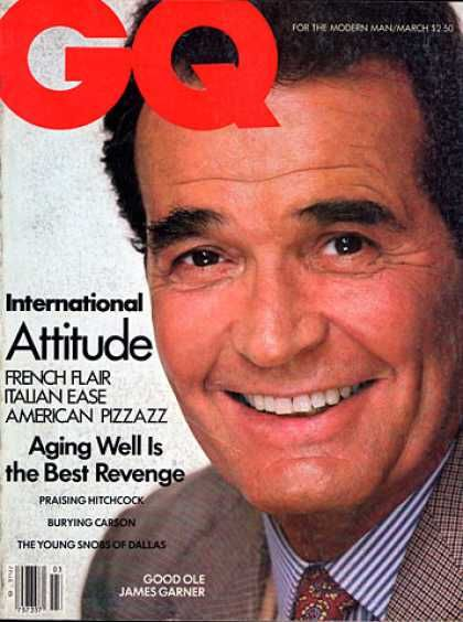 Cover of GQ - March 1984 - James Garner
