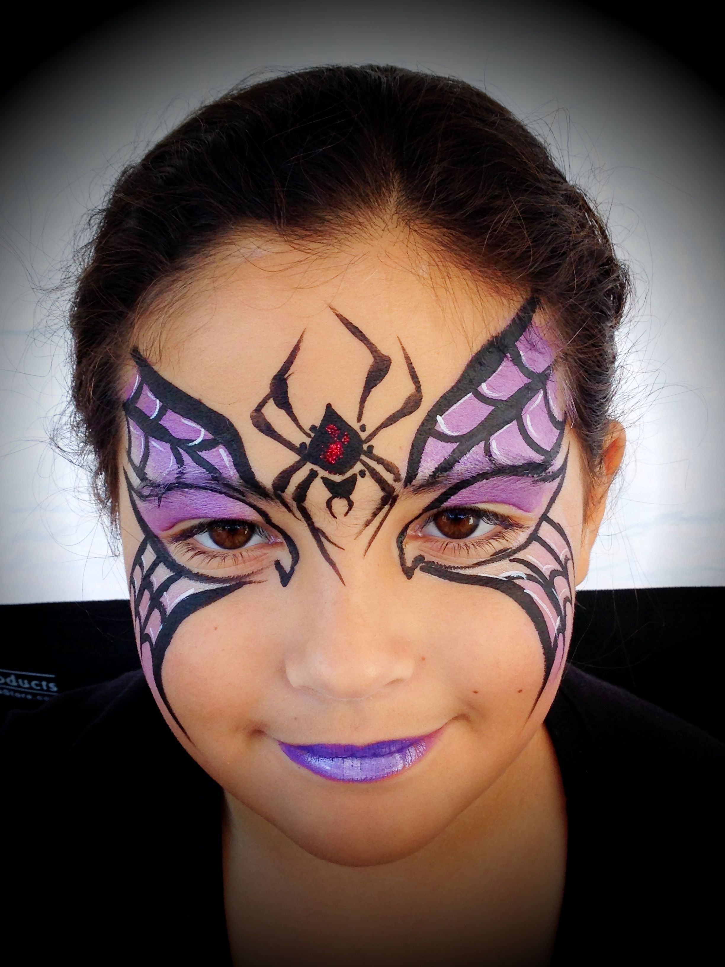 Spider web mask with gothic vibe Witch painting