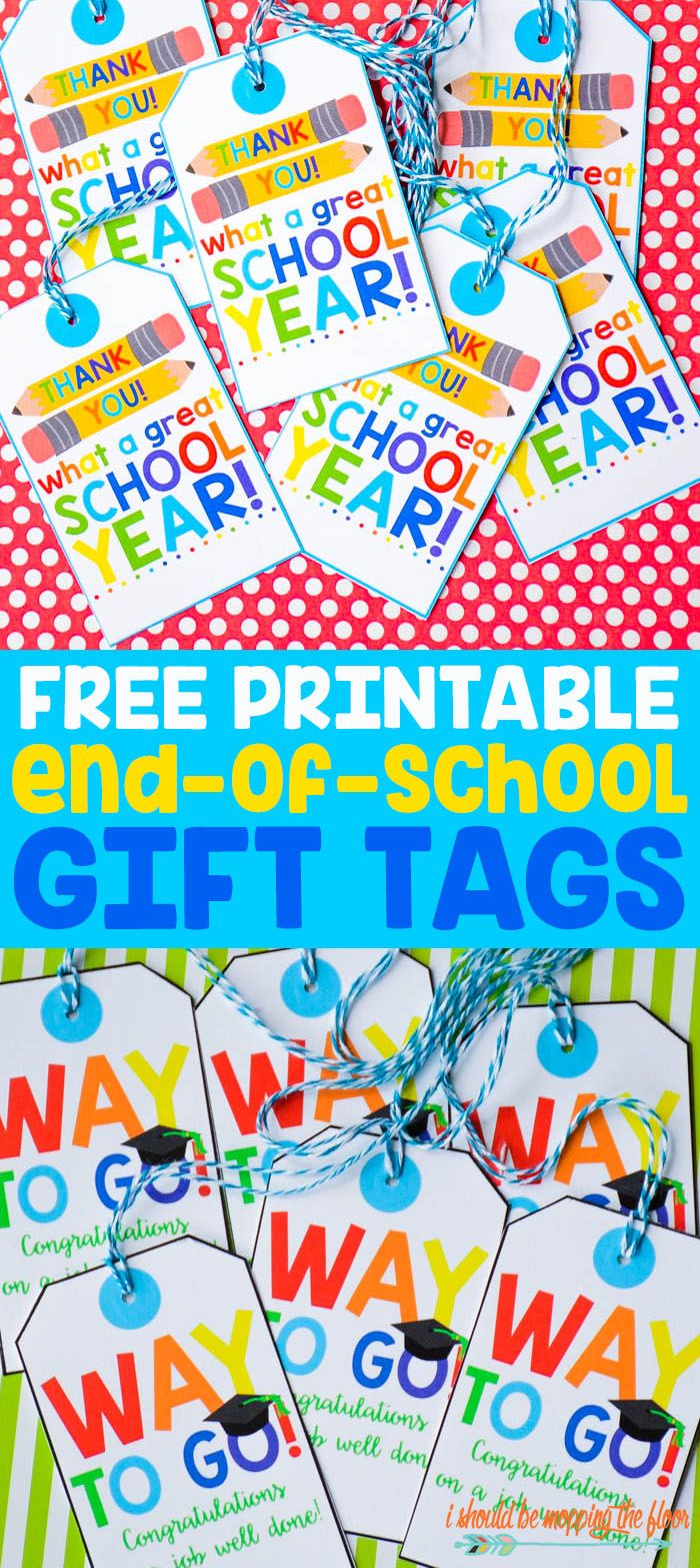 Free printable end of school gift tags free printable school free printable end of school gift tags negle Images