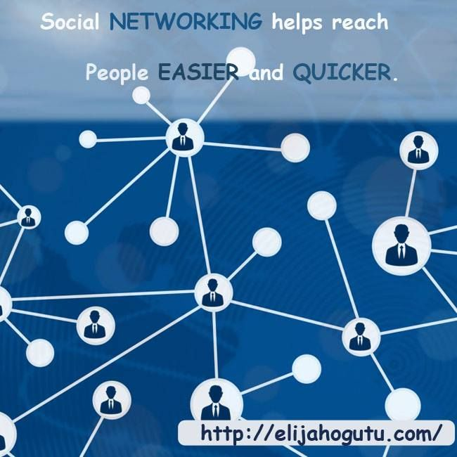Social networking helps reach people easier and quicker. http://ow.ly/P25sG