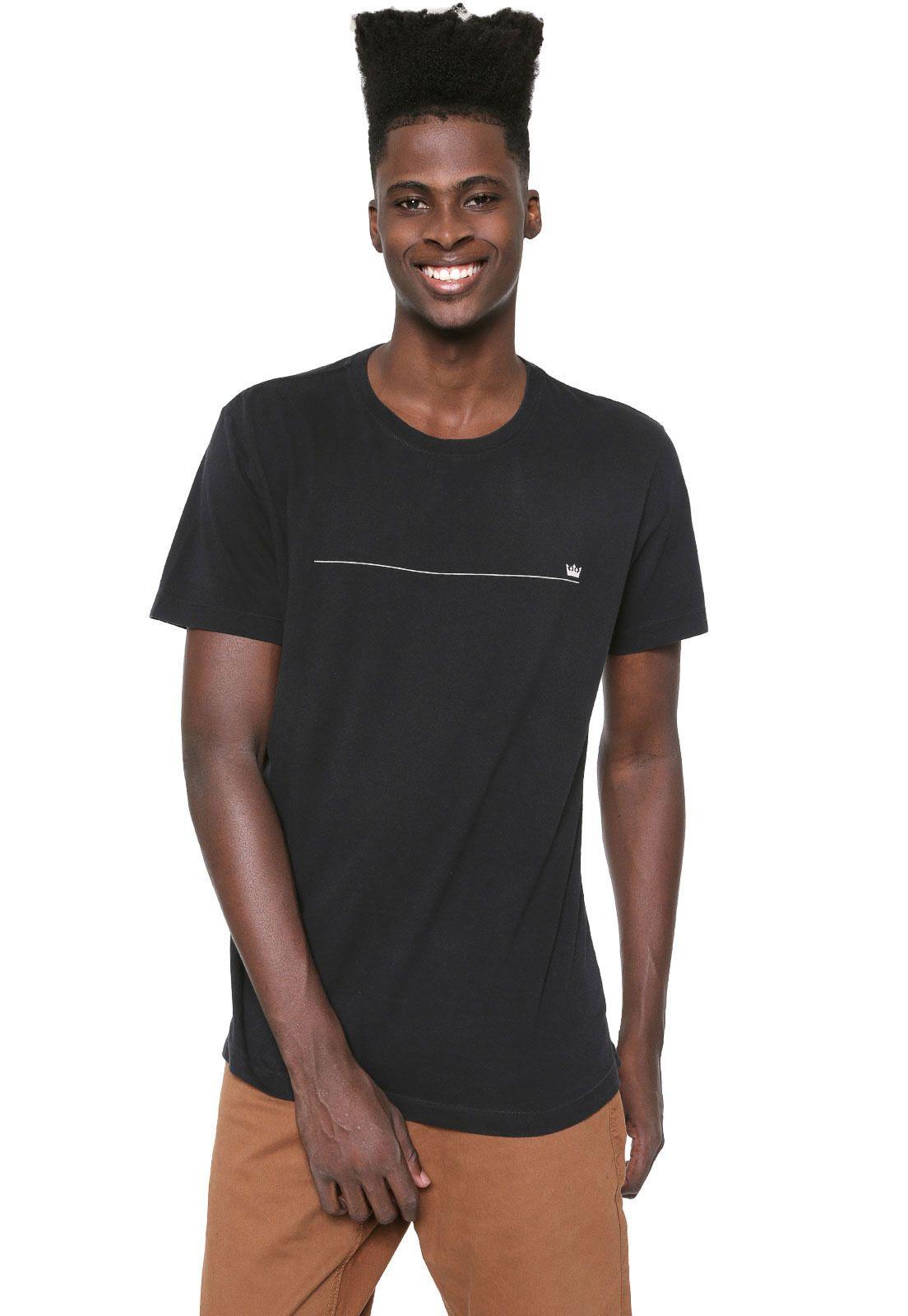 Camiseta Osklen Color Minim Preta | Camiseta osklen, Osklen
