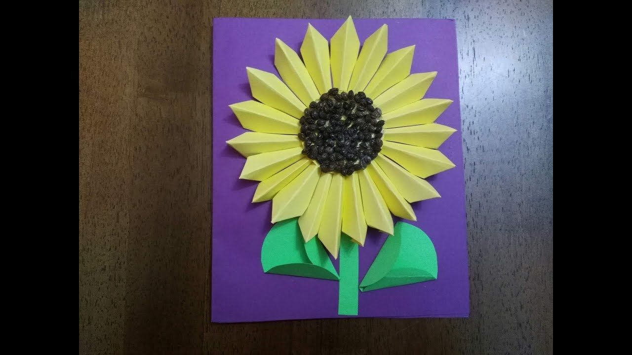 Diy greeting card how to make a sun flower greeting card diy greeting card how to make a sun flower greeting card tutorial m4hsunfo