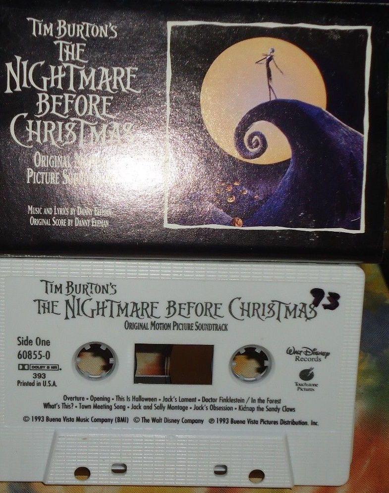 Tim Burton S The Nightmare Before Christmas Soundtrack Cassette Nightmare Before Christmas Soundtrack Nightmare Before Christmas Nightmare Before