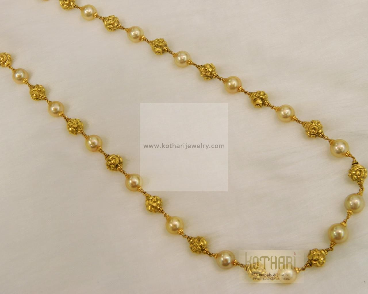 Kt gold south sea pearl beads mala aabharan pinterest south