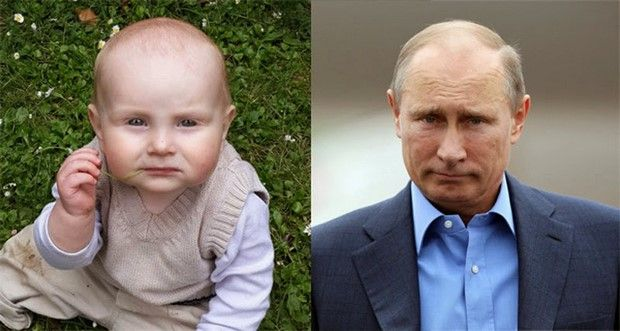 Babies That Incredibly Look Like Celebrities Vladimir Putin Cute Baby Pictures Funny Babies Cute Babies