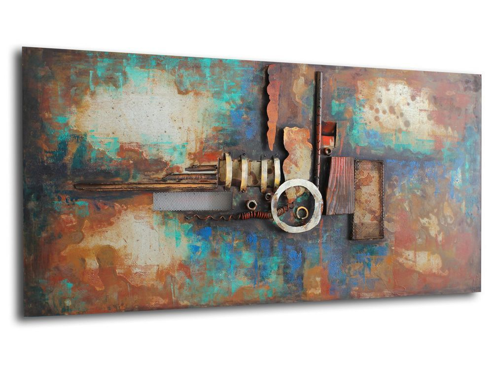 metal industrial style art | abstract industrial art | contemporary ...