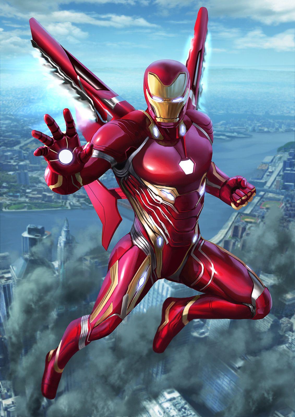 Iron Man Infinity War by Chris Koh on ArtStation Marvel