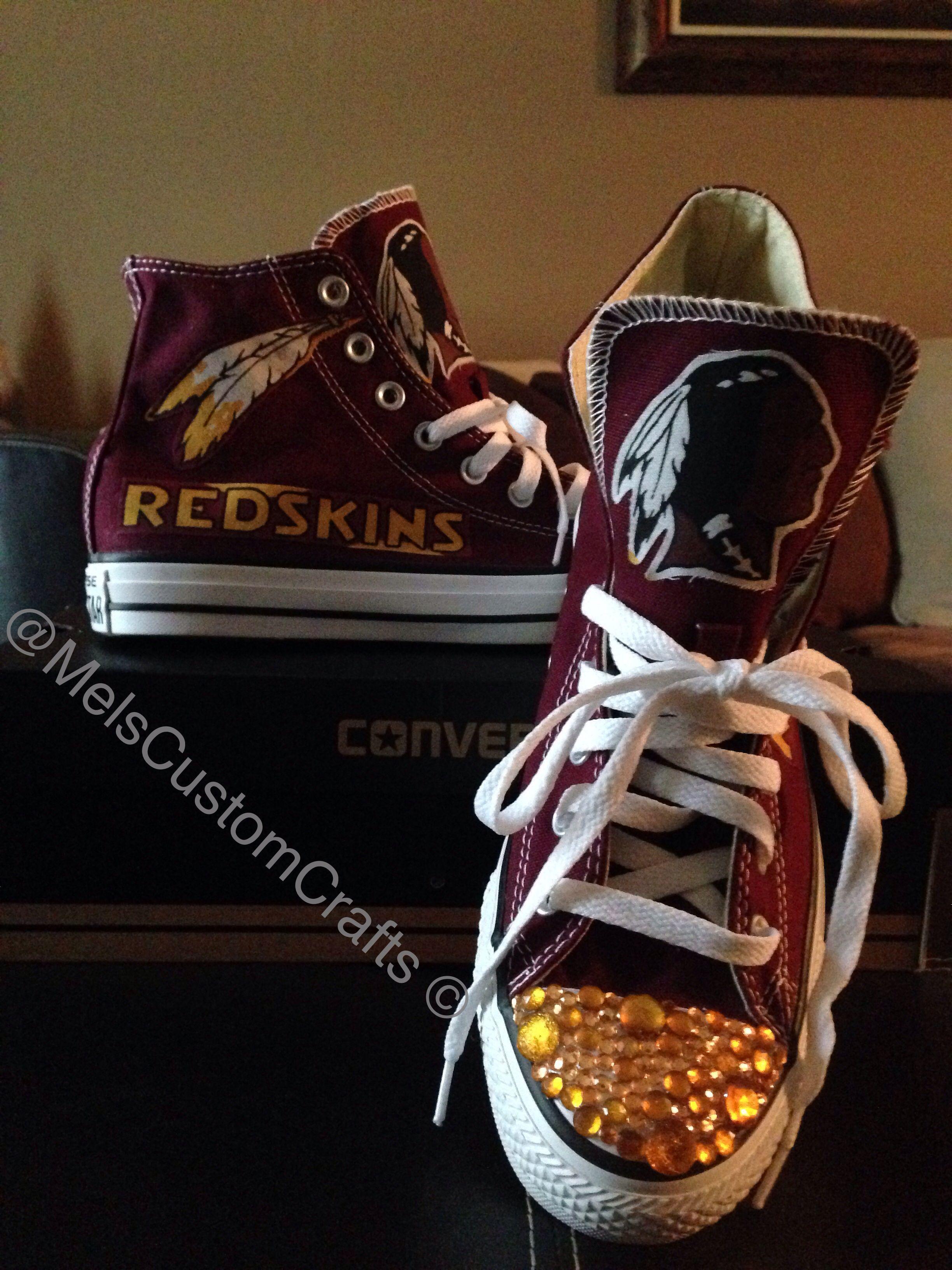 086fce81 Burgundy custom high top converse. Redskin football inspired with ...