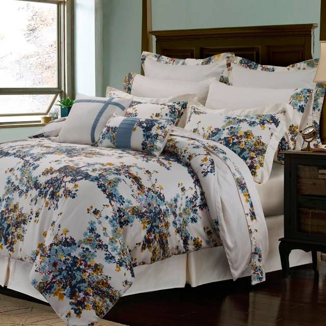 Tribeca Living Casablanca 12 Piece Comforter Set In Blue