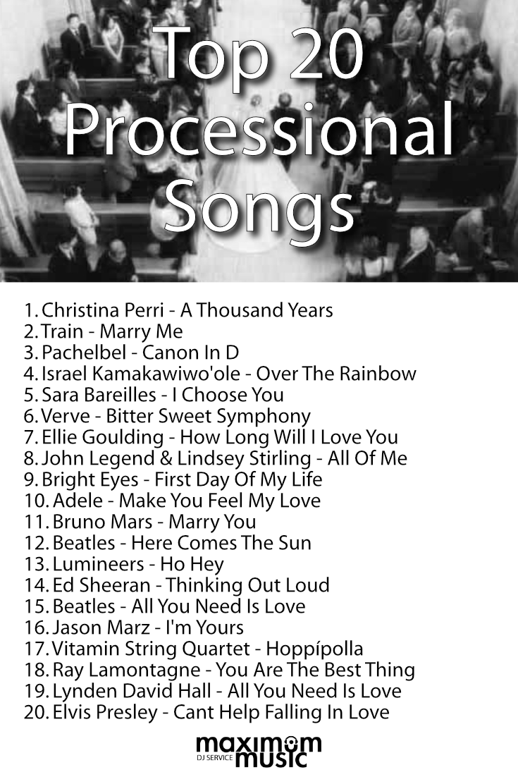 Top 20 Processional Songs Of 2015