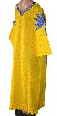 892fa324bd54 Senegalese Designed Swiss Lace Long Dress - Blue & Yellow | Konga Nigeria