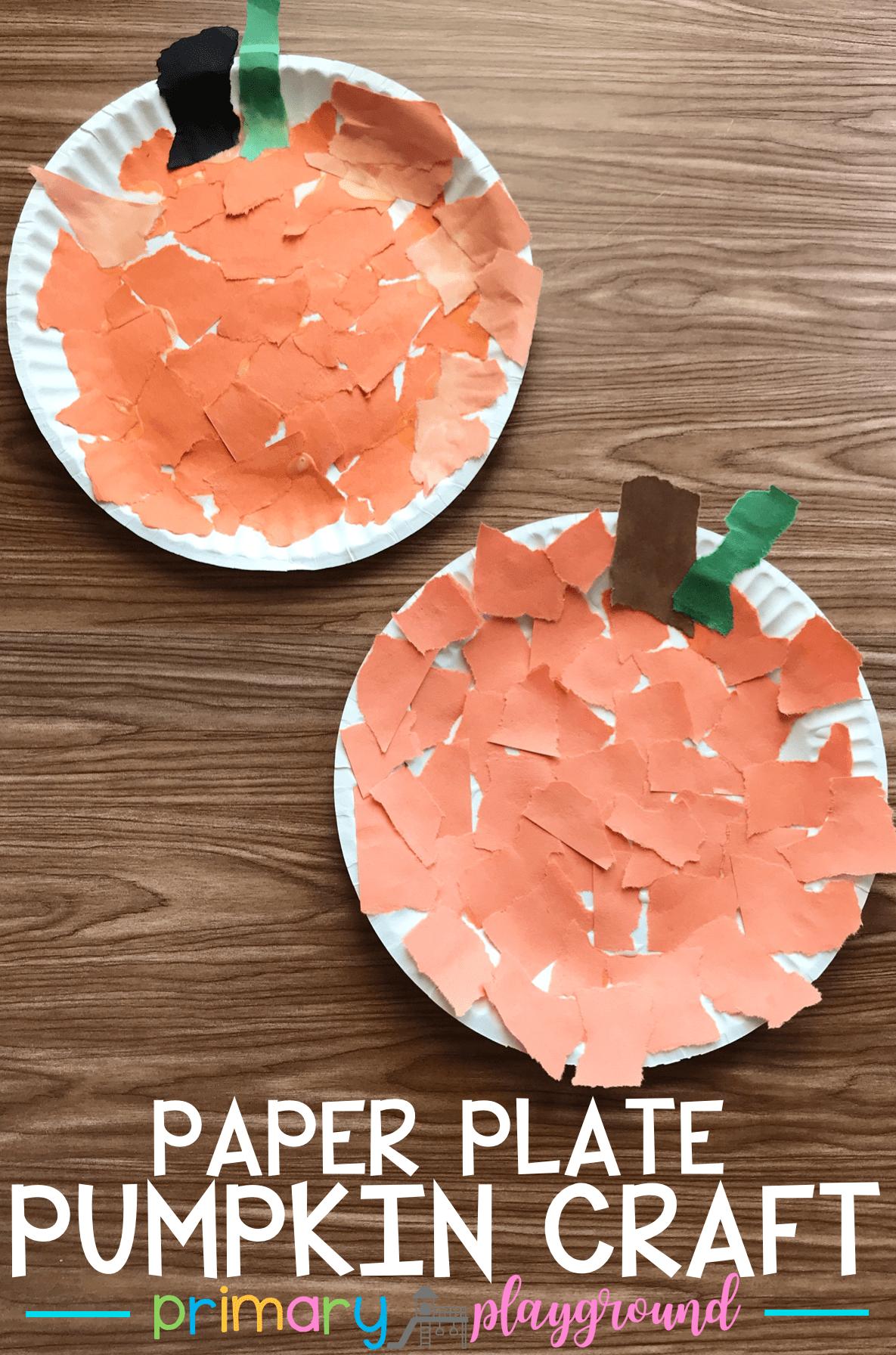 Paper Plate Pumpkin Craft - Primary Playground