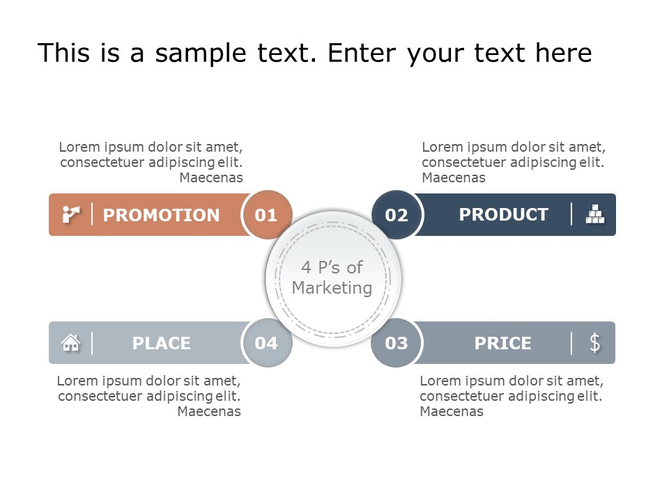 4 P S Marketing Mix Template Marketing Mix P S Of Marketing Powerpoint Templates