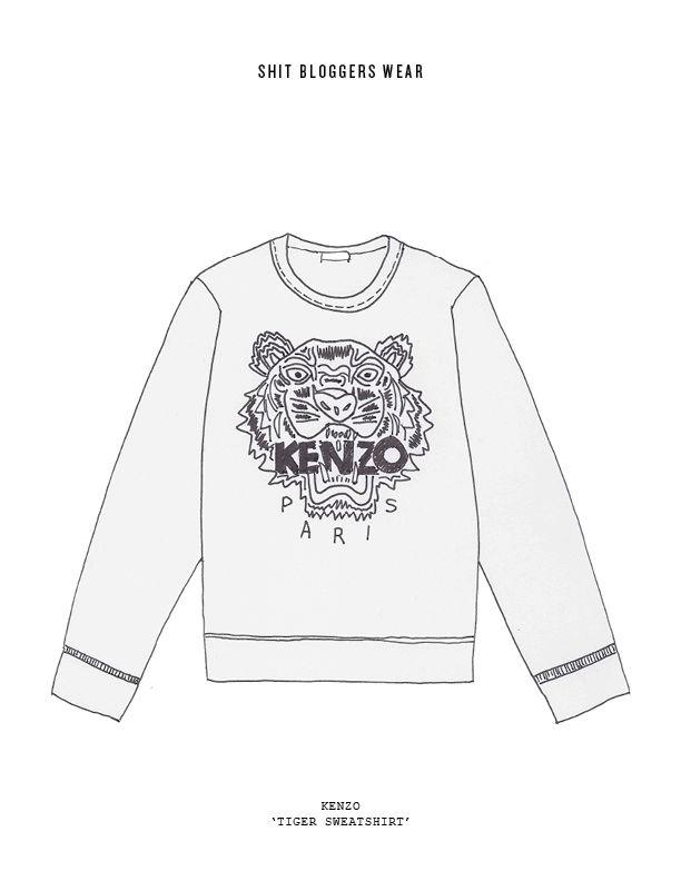 Oh Mundo Cruel! » Shit Blogger Wears por Cecilia Doan - Kenzo tiger sweater