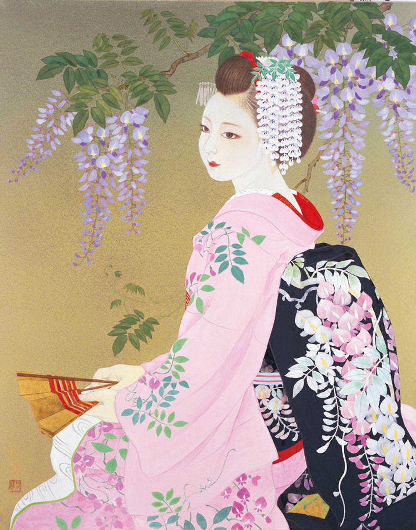 Fuji Musume Wisteria by Morita Rieko.