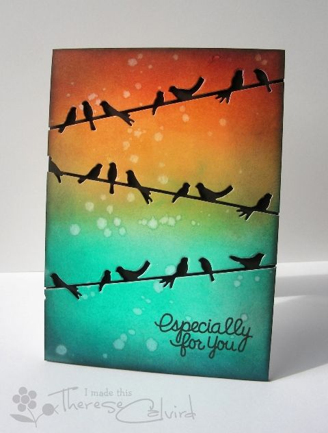 Lostinpaper - Muse especially for you distress ink bird on a wire card