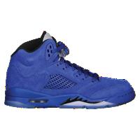 sale retailer eb1b3 600e8 Jordan Retro 5 - Boys' Grade School - Blue / Black   back to ...