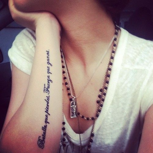 Tatuajes Originales Para Mujer En El Antebrazo Imágenes Frases