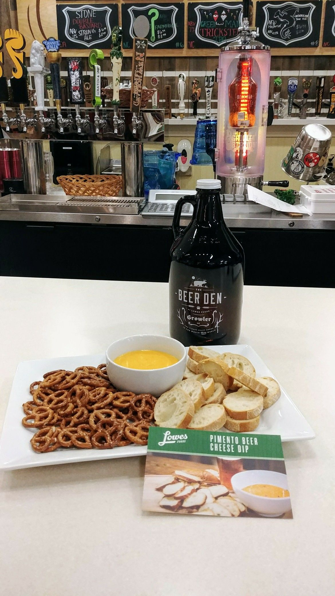 The Beer Den helps makes this Pimento Beer Cheese Dip easy