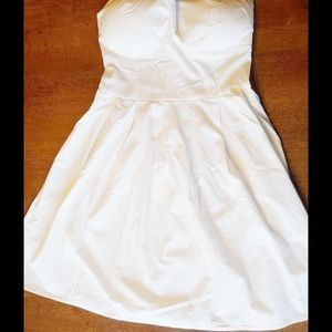 I just discovered this while shopping on Poshmark: White Pleated Tube Dress…