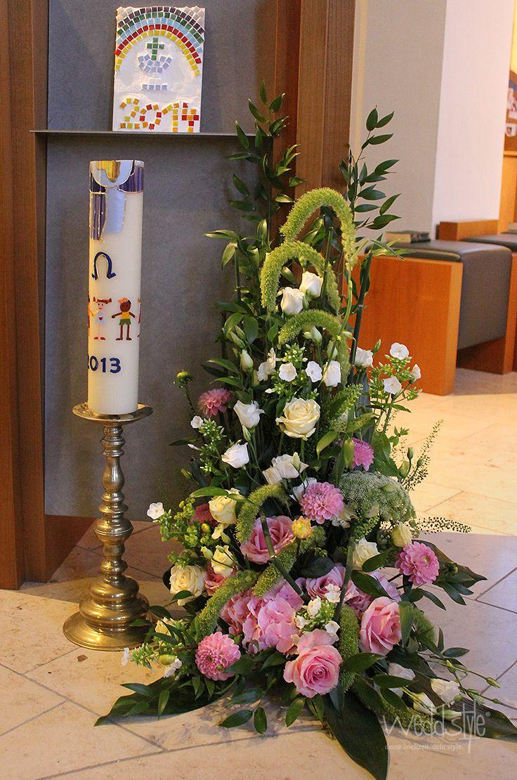 Blumengesteck fr den Altar Kirchendeko   KIRCHENDEKO
