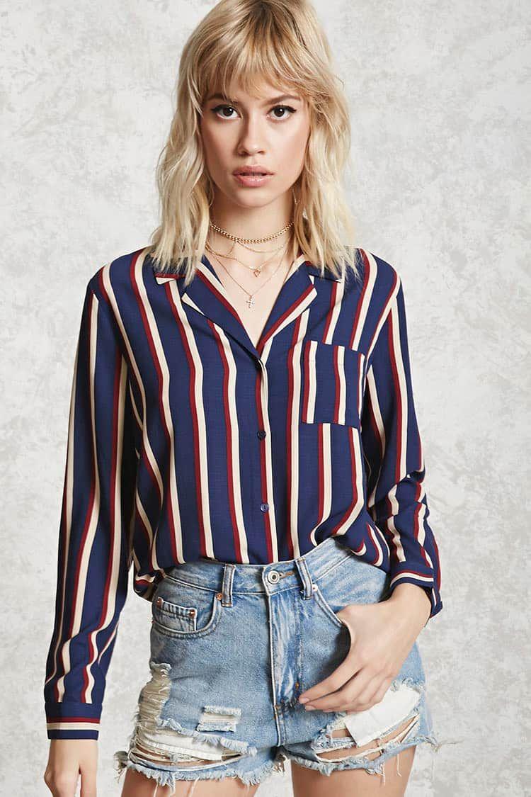 17aff44f44201f Striped Pocket Shirt Forever 21