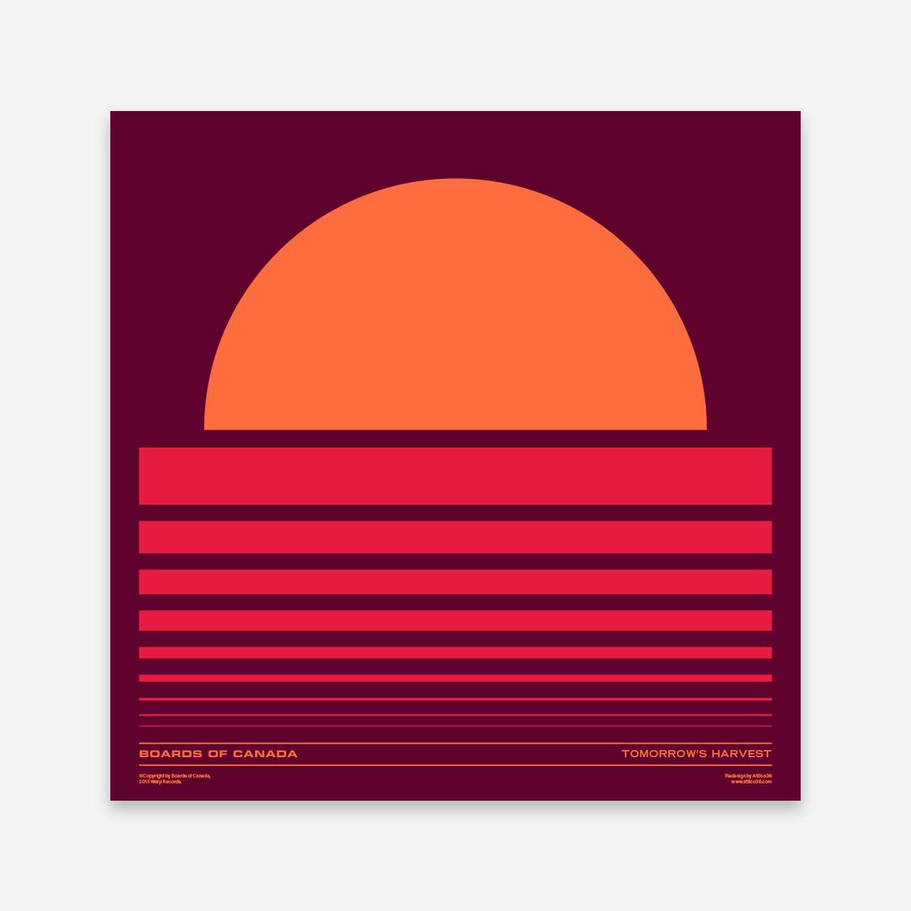 Boards Of Canada Tomorrow S Harvest Vinyl Remake By Attico36 Boards Of Canada Modern Graphic Design Canada Art