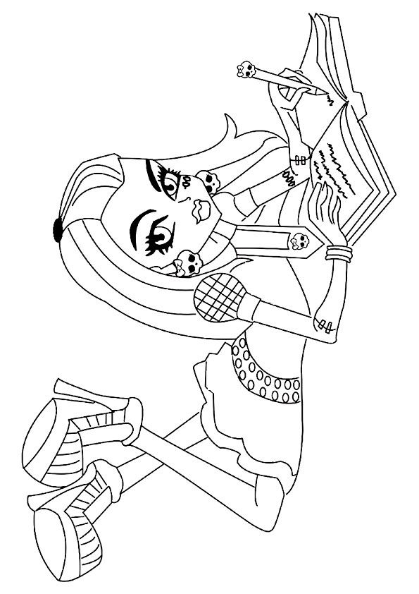 Top 27 Monster High Coloring Pages For Your Little Ones Color