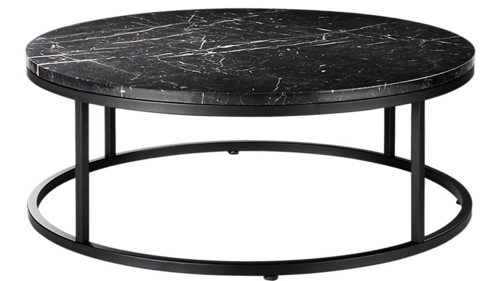 Smart Round Black Marble Coffee Table Reviews Black Marble