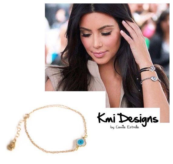Evil Eye Charm Gold Bracelet