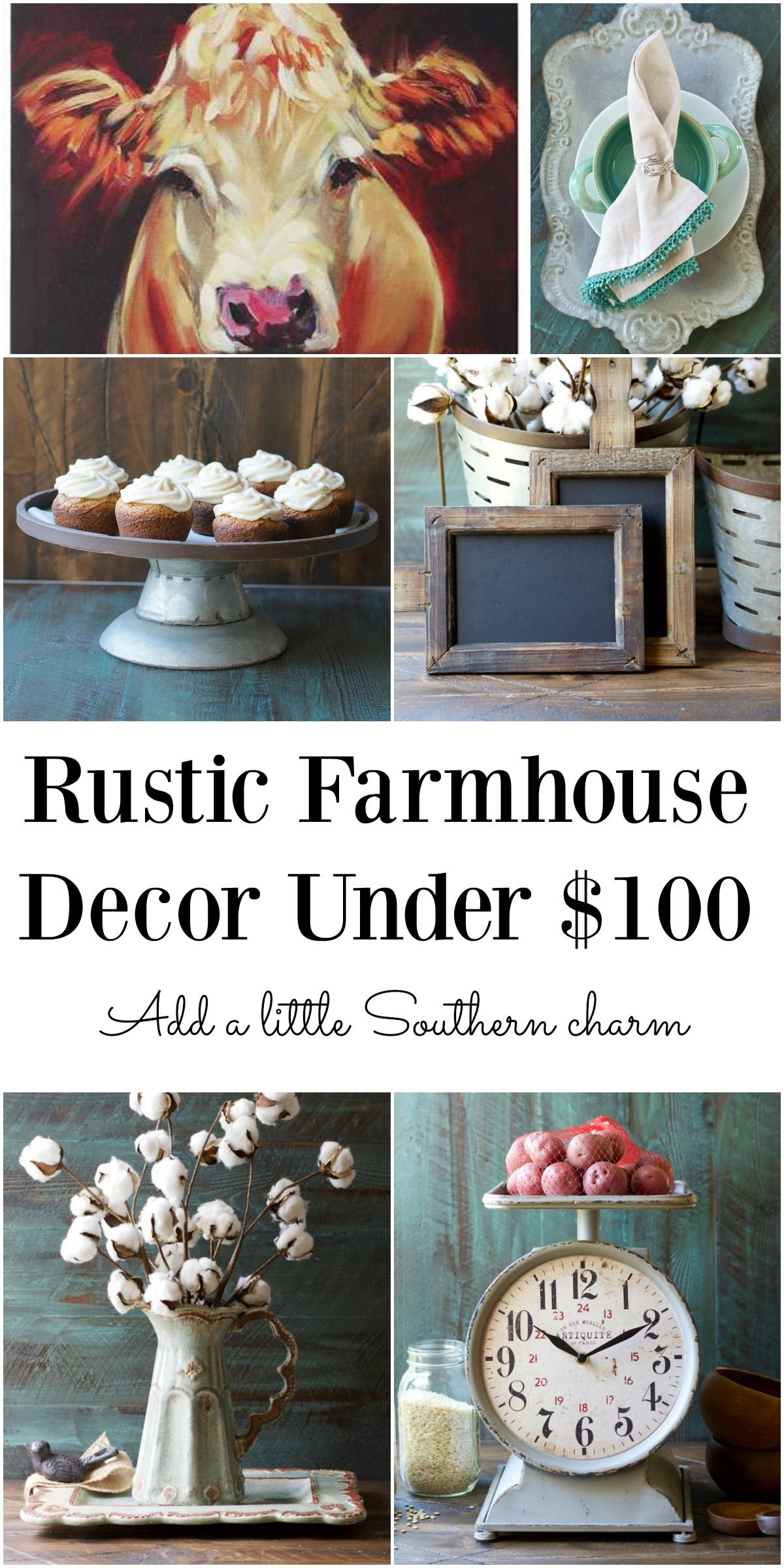 Rustic Farmhouse Decor for under $100!! Lots of this stuff is much ...