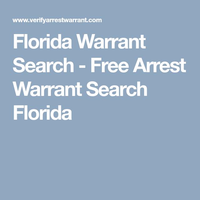 Florida Warrant Search Free Arrest Warrant Search Florida Florida Search Free