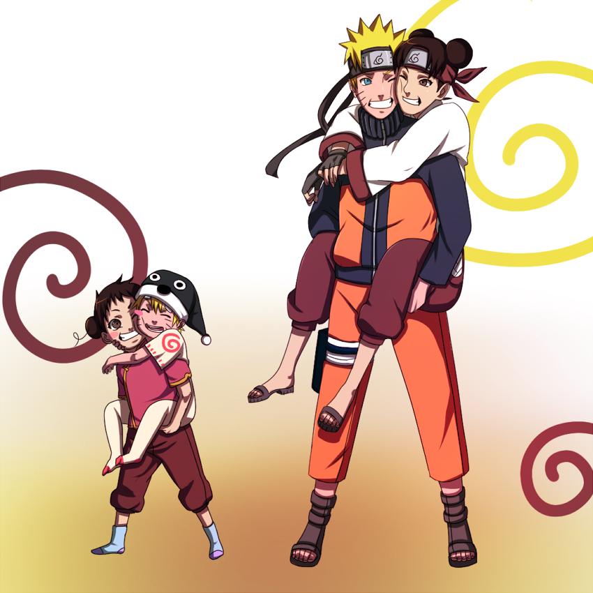 Naruto Tenten Siblings By BayneezOnedeviantart On DeviantART Anime