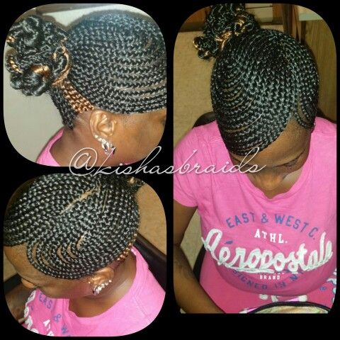 braided dbl swoop ponytail