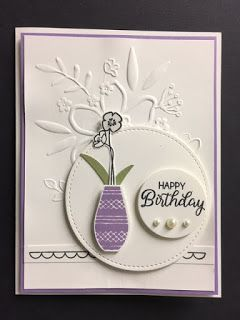 Varied Vases, Beautiful Bouquet, Birthday Card, 2018-2019 Stampin' Up! Catalog