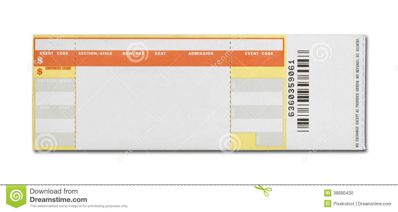15 Awesome Ticketmaster Ticket Template Images  Blank Ticket Template