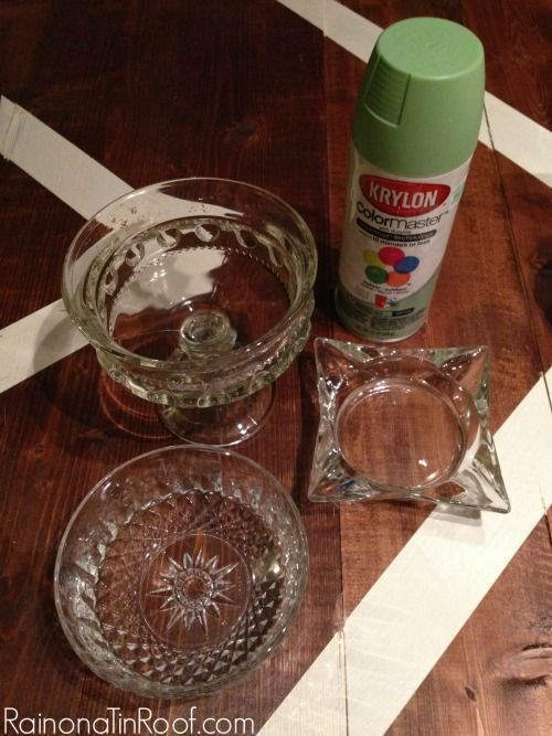 DIY Faux Jadeite from thrift store finds